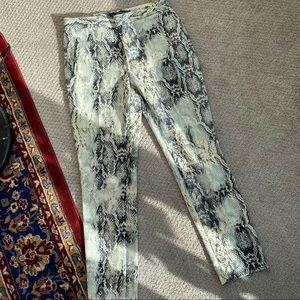 Zara reptile print pants (size xsmall)